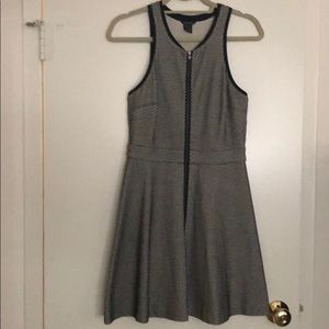 Club Monaco zip fit and flare dress